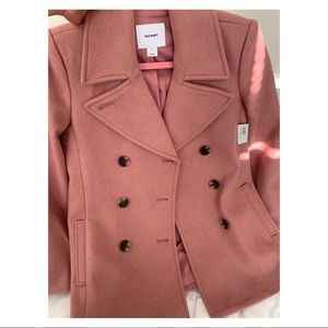 NEW Pink Old Navy Pea Coat